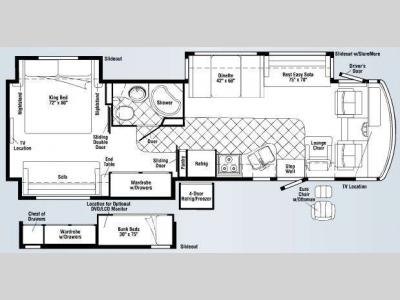 Floorplan - 2009 Winnebago Adventurer 35Z