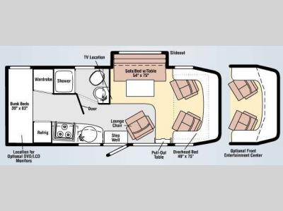 Floorplan - 2009 Winnebago View 24P