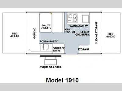 Floorplan - 2009 Forest River RV Rockwood Freedom LTD Series 1910