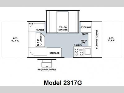 Floorplan - 2009 Forest River RV Rockwood Premier 2317G