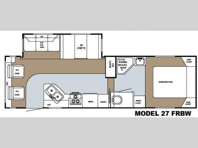 Floorplan - 2009 Gulf Stream RV Canyon Trail Mid Profile 27 FRBW