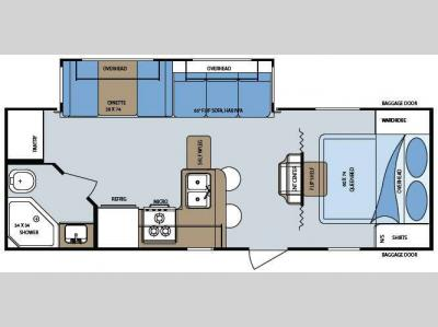 Floorplan - 2009 Gulf Stream RV Streamlite 26QBSS