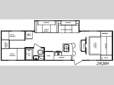 Floorplan - 2009 Gulf Stream RV Streamlite 29QBH