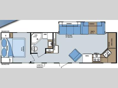 Floorplan - 2009 Gulf Stream RV Gulf Breeze 29FKS