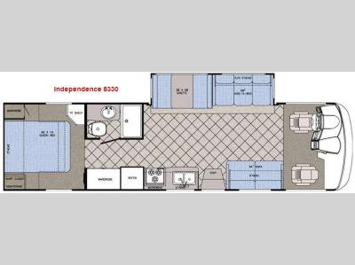 Floorplan - 2009 Gulf Stream RV Independence 8330