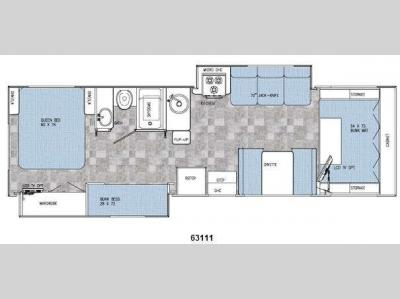 Floorplan - 2009 Gulf Stream RV Yellowstone Traditional C 63111