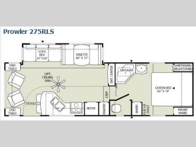 Floorplan - 2009 Fleetwood RV Prowler 275RLS