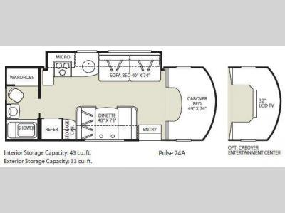Floorplan - 2009 Fleetwood RV Pulse 24A