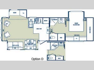 Floorplan - 2005 Forest River RV Cardinal 33 TS