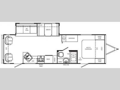 Floorplan - 2009 Holiday Rambler Savoy LE 29 CKS