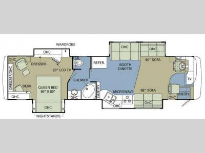 Floorplan - 2008 Holiday Rambler Ambassador 40 PLQ