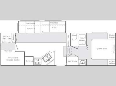 Floorplan - 2005 Keystone RV Cougar 281 EFS