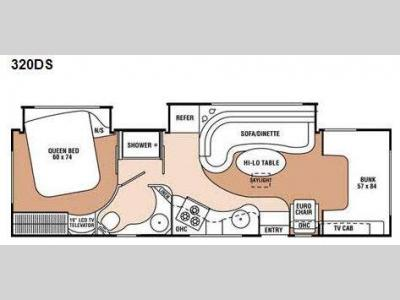 Floorplan - 2009 Coachmen RV Leprechaun 320DS