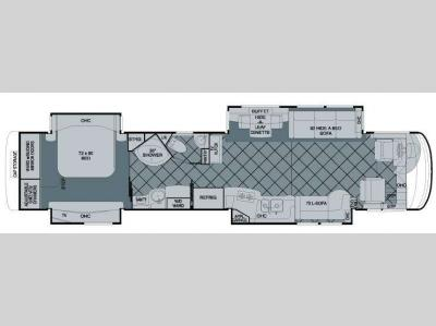 Floorplan - 2009 Newmar Essex 4502