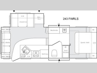 Floorplan - 2005 Keystone RV Sprinter 243 FWRLS