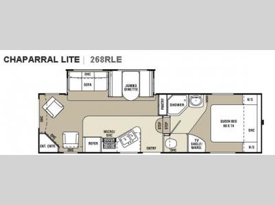 Floorplan - 2009 Coachmen RV Chaparral Lite 268RLE