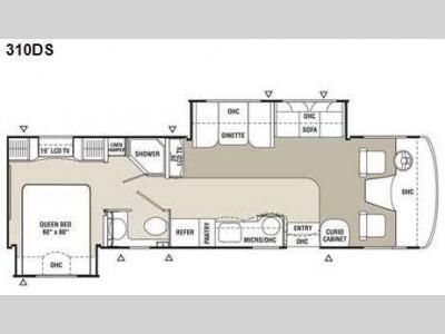 Floorplan - 2009 Coachmen RV Mirada 310DS