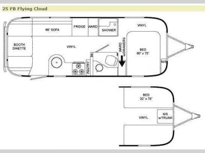 Floorplan - 2009 Airstream RV Flying Cloud 25 FB