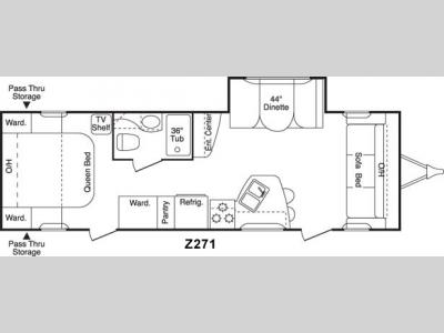 Floorplan - 2005 Keystone RV Zeppelin Z261