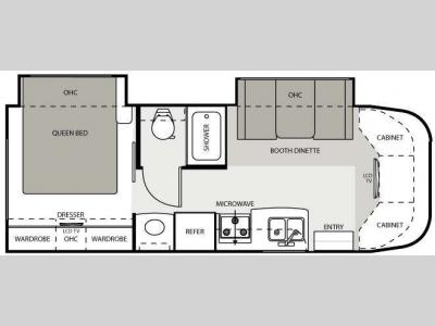 Floorplan - 2009 Four Winds RV Chateau Citation 26BE