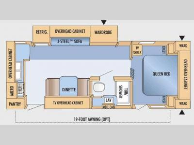 Floorplan - 2009 Jayco Eagle Super Lite 256RKS