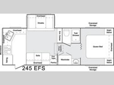 Floorplan - 2005 Keystone RV Cougar 245 EFS