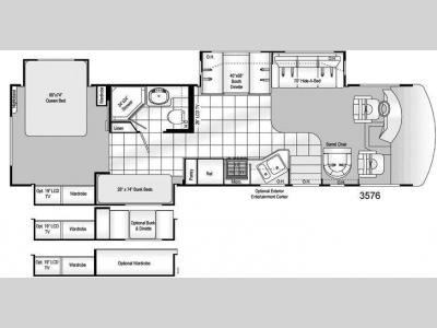 Floorplan - 2009 Damon Daybreak 3576