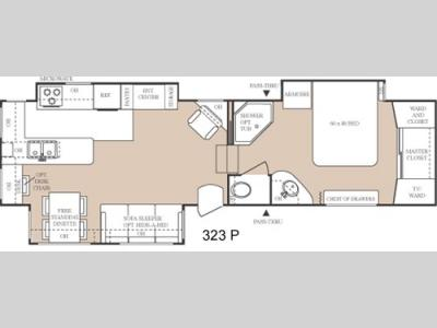Floorplan - 2005 Keystone RV Everest 323P