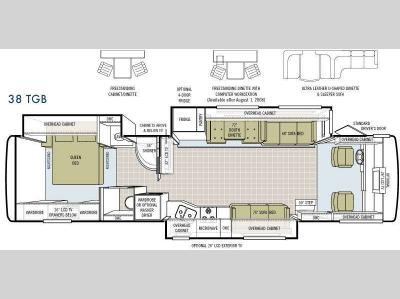 Floorplan - 2009 Tiffin Motorhomes Allegro Bay 38 TGB