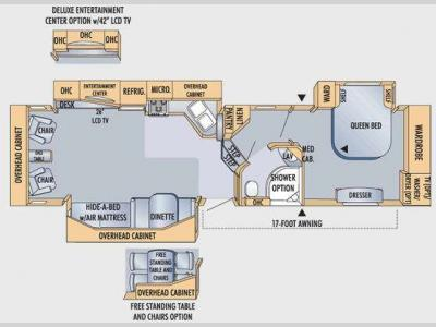 Floorplan - 2009 Jayco Eagle 351RLSA