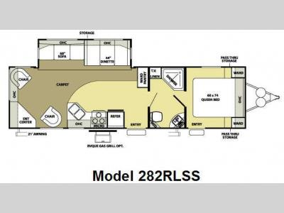 Floorplan - 2008 Forest River RV Salem LA 282RLSS