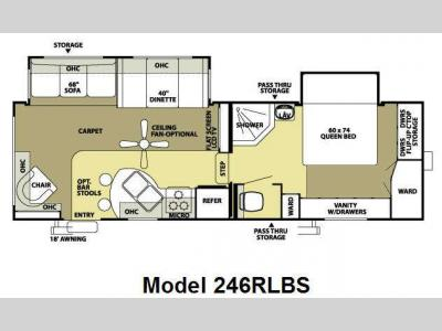 Floorplan - 2009 Forest River RV Salem LA 246RLBS