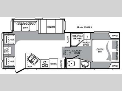 Floorplan - 2009 Keystone RV Cougar 276RLS