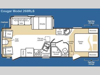 Floorplan - 2009 Keystone RV Cougar 268RLS