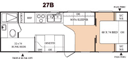 Floorplan - 2005 Keystone RV Hornet 27 BS