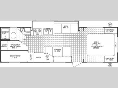 Floorplan - 2004 Forest River RV Surveyor 291