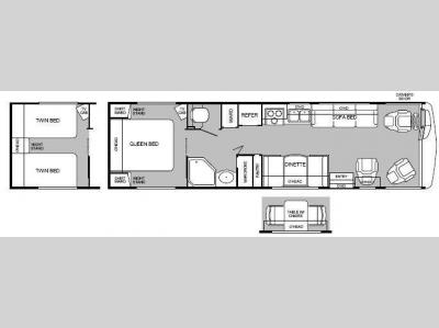 Floorplan - 1999 Fleetwood RV Pace Arrow 33G