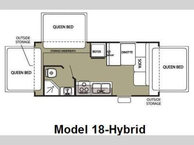 Floorplan - 2009 Forest River RV Cherokee Grey Wolf 18 Hybrid