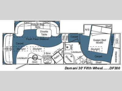Floorplan - 2009 Carriage Domani DF300