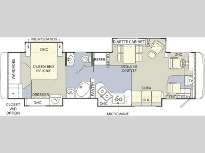 Floorplan - 2005 Holiday Rambler Sceptor 38 PDQ