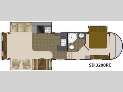 Floorplan - 2010 Heartland Sundance 3200RE