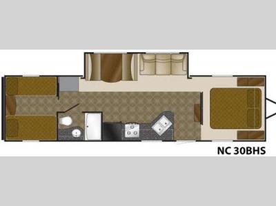 Floorplan - 2010 Heartland North Country 30BHS