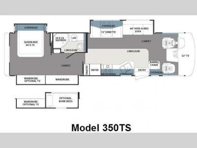Floorplan - 2009 Forest River RV Georgetown 350TS