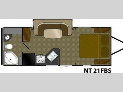 Floorplan - 2010 Heartland North Trail 21FBS