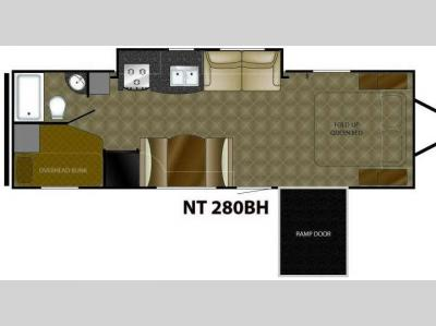 Floorplan - 2010 Heartland North Trail 280BH