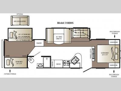 Floorplan - 2010 Keystone RV Outback Sydney Edition 310BHS