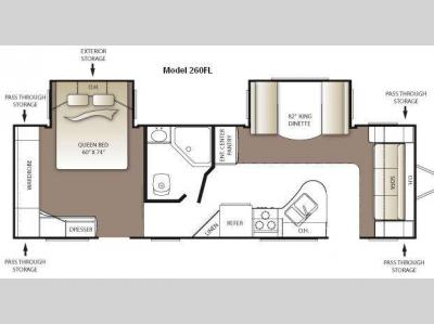 Floorplan - 2010 Keystone RV Outback 260FL