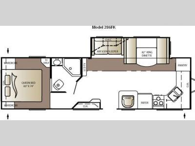 Floorplan - 2010 Keystone RV Outback 286FK