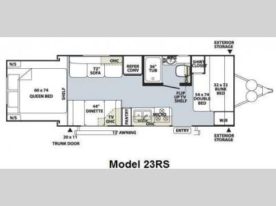 Floorplan - 2010 Forest River RV Rockwood Roo 23RS