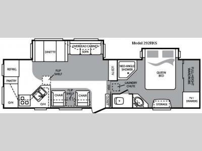 Floorplan - 2010 Keystone RV Cougar 292RKSWE